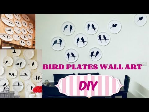 ❤ DIY Bird Plates Wall ❤ - INEXPENSIVE Wall ART