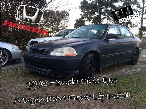 98 HONDA CIVIC EJ6 MUGEN JDM FRONT BUMPER LIP INSTALL #Hondalife #hondacivic