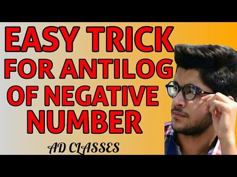 How to find Antilog of Negative Number | Negative Antilog