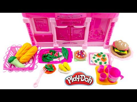 Play-Doh Meal Makin Kitchen Playset Play Dough Hamburger Donut Hotdog Pizza