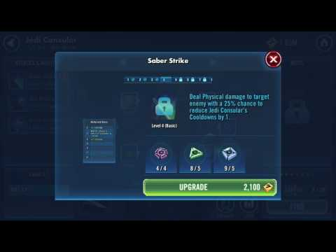 Star Wars Galaxy of Heroes - Jedi Consular Skill & Equipment Upgrade