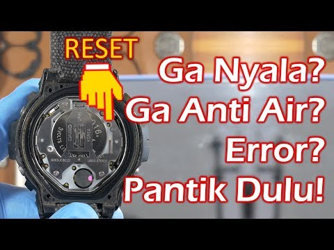 Cara Ganti Baterai Jam Tangan Digtal Sendiri (G-Shock DW-6600)