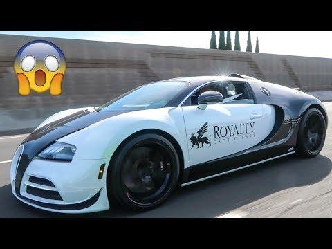Bugatti Veyron RACES Cocky Lamborghini LOL!