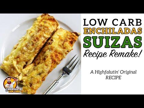 Low Carb ENCHILADAS SUIZAS - The BEST Keto Enchilada Recipe - Enchiladas Suisse