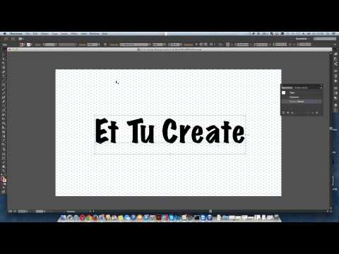 How to apply gradient to text in Illustrator CC