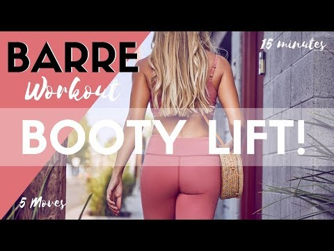 Lift Your Booty Workout | 5 Barre Moves to Tone Your Butt + PRINTABLE DOWNLOAD