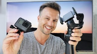 HOW TO use your DJI OSMO MOBILE with your GoPro Hero5 - DIY $0 HACK