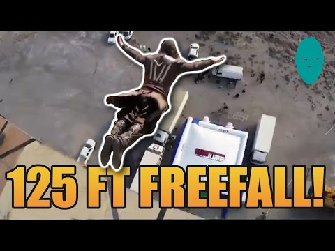 Assassin's Creed Movie 125 Ft Freefall BTS | Damien Walters