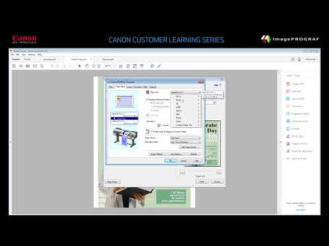 How to Print a Poster from a PDF File using the imagePROGRAF Printer Driver