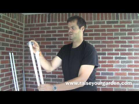 DIY PVC TRELLIS FOR CUKES, BEANS AND PEAS