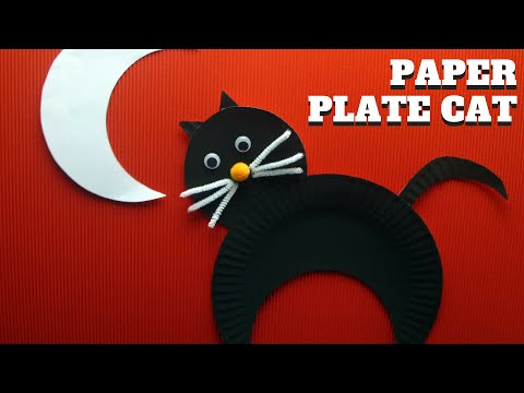 Halloween Craft - How to Make a Paper Plate Cat