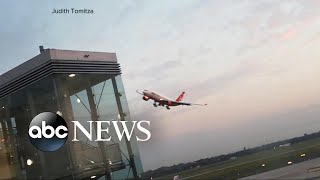 Pilots perform risky honor lap stunt, alarming travelers in terminal