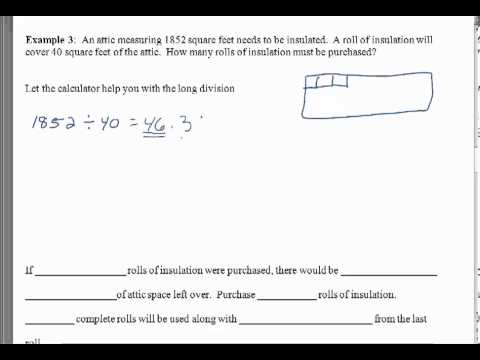 Remainders, Checking Division Problems, and Rounding Questions - MTH 114