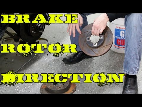 Which direction do slotted brake rotors go? Or any brake rotor