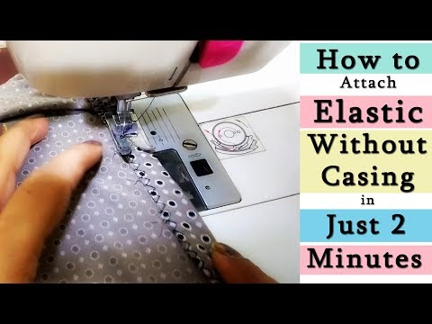 How to Attach Elastic without Casing | Attach Elastic to  Pants, Skirts in Just 2 Minutes