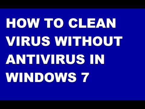 How To Clean Virus Without Antivirus In Windows 7 In Hindi/urdu