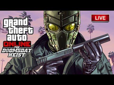 GTA V : ONLINE   FAZENDO OS GOLPES JUIZO DO FINAL   THE DOOMSDAY HEIST