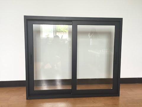 Australia style aluminum sliding window with crimsafe screen