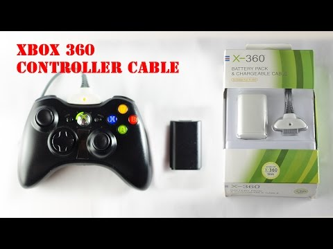 Xbox 360 Controller Cable [Battery Pack & Charging Cable]