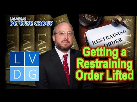 Getting a restraining order lifted in Nevada