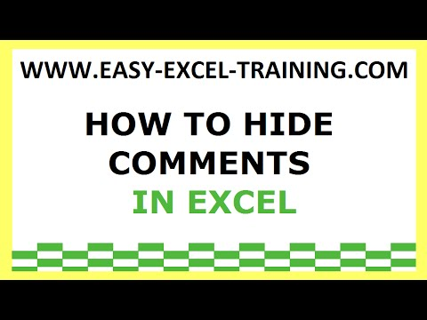 Task 134 - How to hide comment in Excel - EXERCISES FOR BEGINNERS