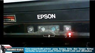 EPSON PRINTER RED LIGHT ERROR SOLUTION L210, L220, L360, L380, L800