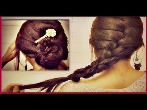 ★ HOW TO: FRENCH BRAID YOUR OWN HAIR TUTORIAL| ROMANTIC UPDO BUN hairstyles FOR MEDIUM LONG HAIR
