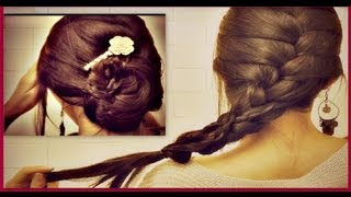 How To French Braid Your Own Hair Tutorial Romantic Updo Bun Hairstyl