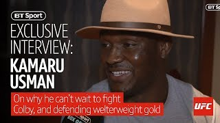 """""""I heard he's not that good with money"""" Kamaru Usman goes in on Colby Covington"""