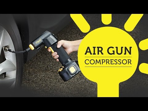 Quickly Inflate Tires and More with AirGun Compressor