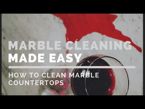 How to Clean Marble Countertops the Easy Way!