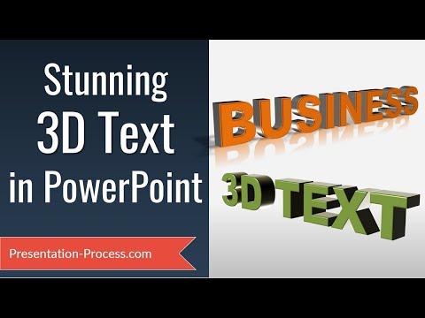 How to Create Stunning 3D Text in PowerPoint