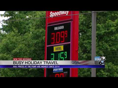 Higher gas prices aren't expected to keep people from traveling Memorial Day weekend