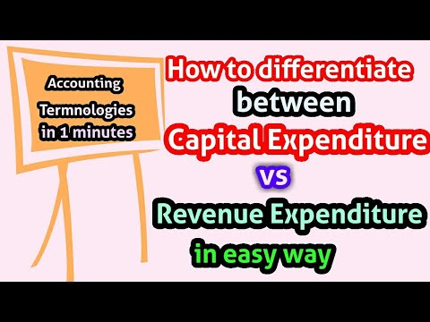 Capital expenditure vs Revenue expenditure by the education forum