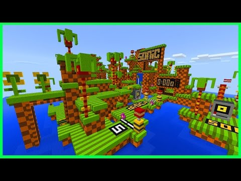 Minecraft PE Maps - SUPER FAST PARKOUR! Sonic the Hedgehog Parkour Map & Download - MCPE 1.1 / 1.0