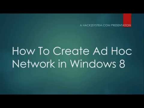 How To Create Ad Hoc Network In Windows 8
