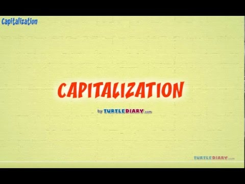 Grammar Video for Kids: Learning to Capitalize Letters