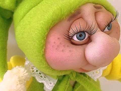 Soft Sculptured Textile Doll Slippy Little Sister