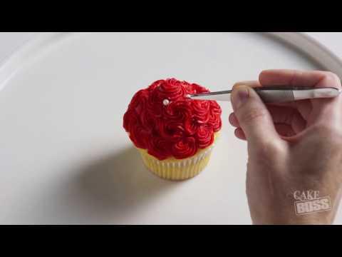 Cake Boss Cupcake Calendar: February | Valentine's Day Bouquet of Rosettes Cupcake Tutorial