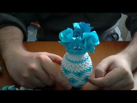 How to make 3d origami Vase 2 (model 2)