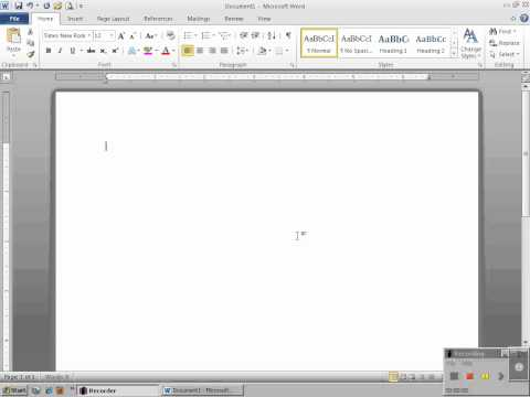 Setting Up MLA Formatting and Font with Microsoft Word 2010