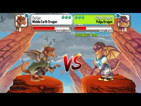 Dragon City - Middle Earth Dragon and Lady Dragon fighting ||fight & skill|| Dragon city game.
