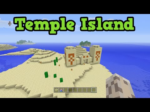 Minecraft Xbox 360 / PS3 SEED - Desert Temple Island + 5 Villages