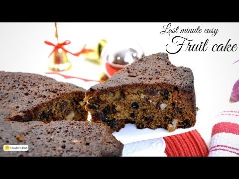 Last Minute Christmas Cake recipe |  Plum Cake | Fruit Cake - By Foodie's Hut #0136