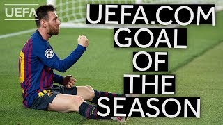 LIONEL MESSI: UEFA.COM Goal of the Season Winner 2018/19
