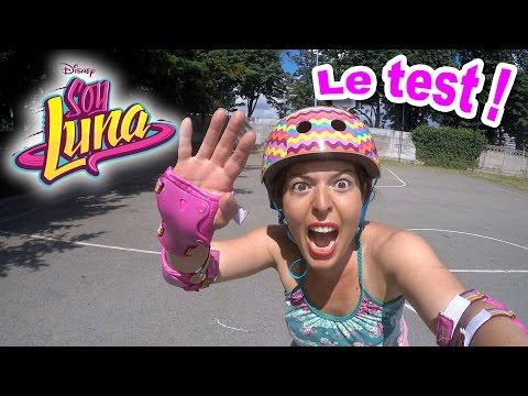 SOY LUNA Disney : On fait du Roller avec le casque et les protections !
