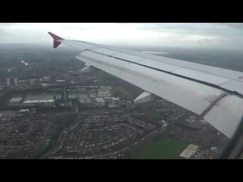 Full Flight with ATC Virgin Atlantic Manchester - London Heathrow Airport