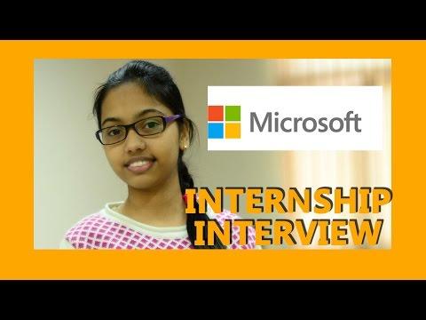 MICROSOFT - Summer Internship Interview