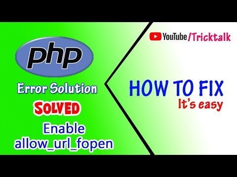 allow url fopen must be enabled in php ini