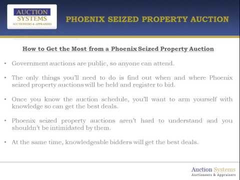 Phoenix Seized Property Auction:  Assortment, Quality and Good Deals!